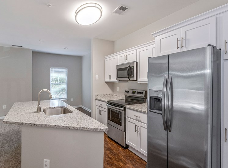 Kitchen at Mayfaire Apartments in Raleigh NC