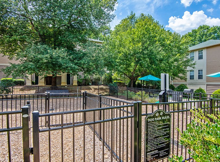 Gate at Dog Park at Mayfaire Apartments in Raleigh NC