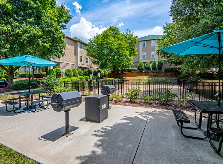 Grill area at Mayfaire Apartments in Raleigh NC