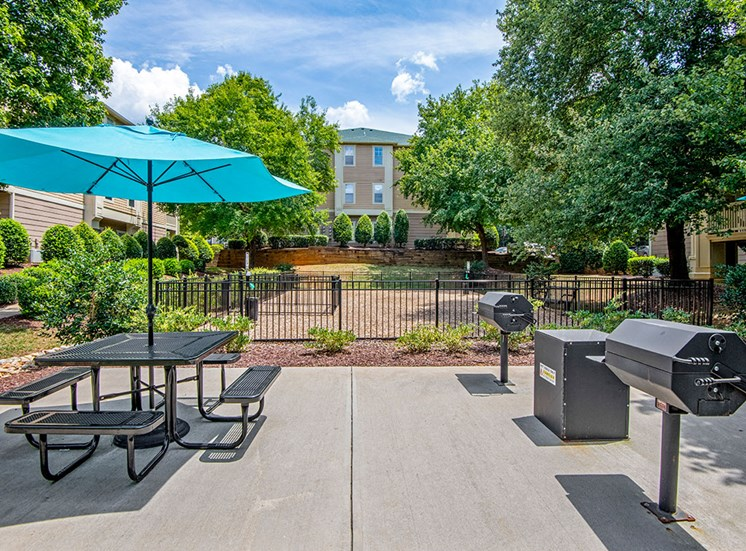 Grill area 2 at Mayfaire Apartments in Raleigh NC