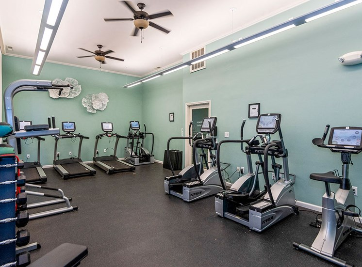 Gym at Mayfaire Apartments in Raleigh NC