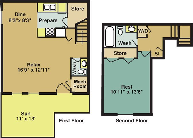 The Maple Townhome Floor Plan 2