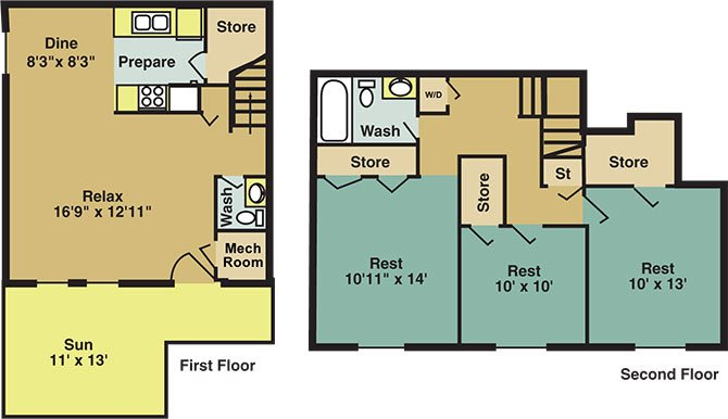 The Dogwood Townhome Floor Plan 7