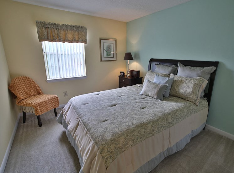 Bedroom at Woodland Creek Apartments in Durham NC