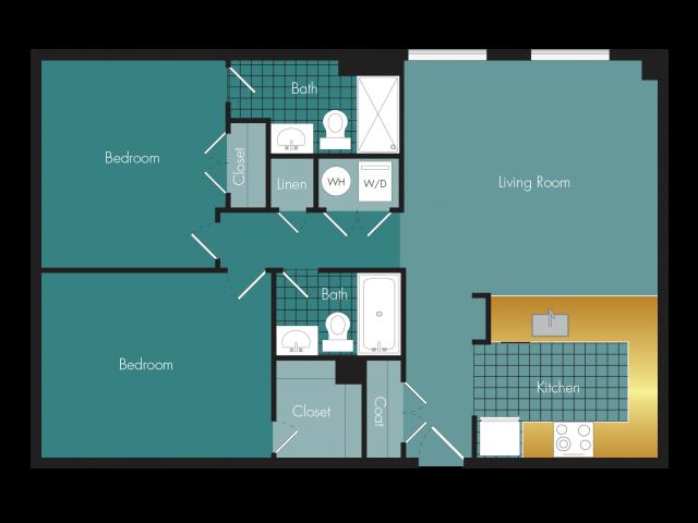 Speakeasy - 2BR - 2 bath Floor Plan 11