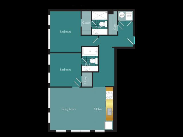 Swag - 2BR - 2 bath Floor Plan 12