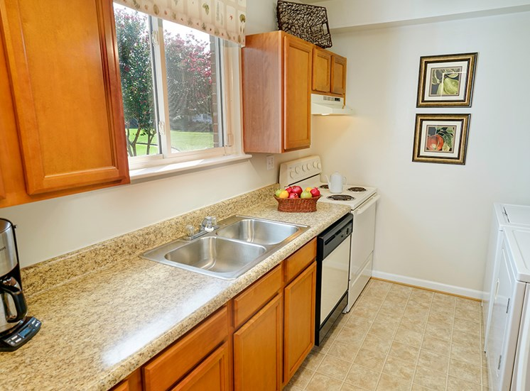 Kitchen at Andover Apartments in Norfolk VA