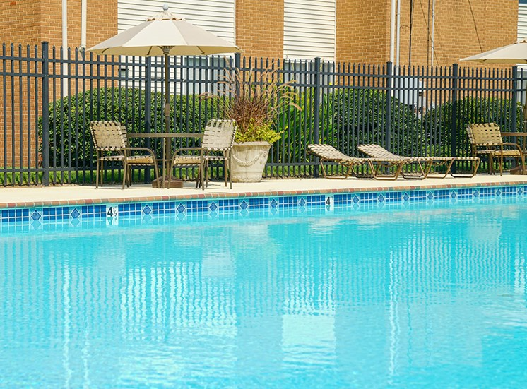 Pool at Andover Apartments in Norfolk VA