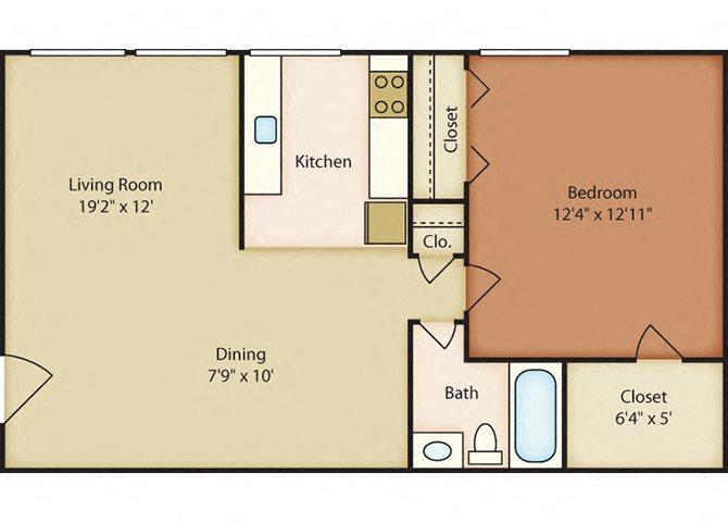 One bedroom apartments in Norflk VA