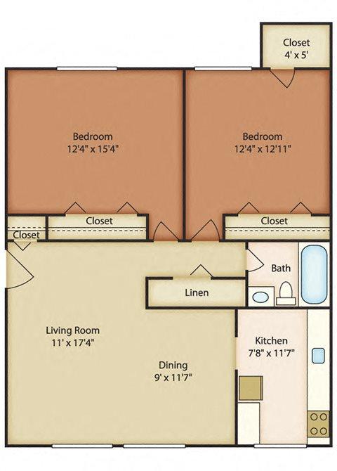 Two bedroom apartments in Norfolk VA