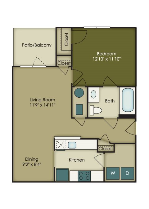 Affordable 1 bedroom  Apartments