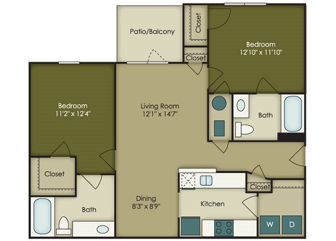 Affordable 2 bedroom  Apartments