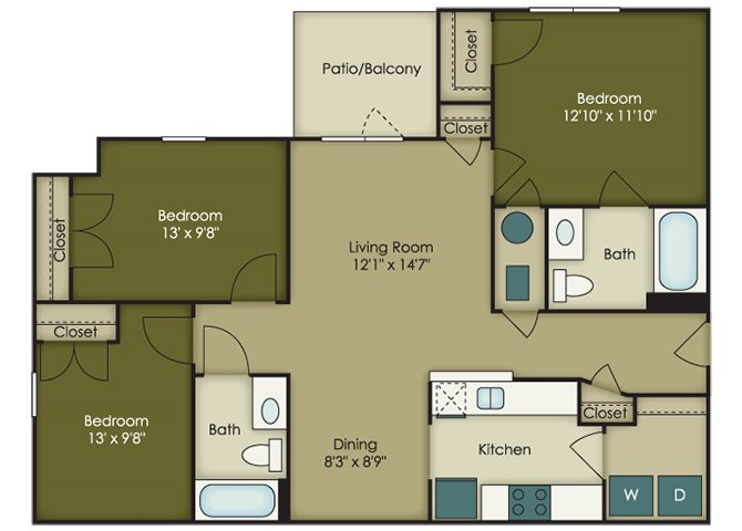 Affordable 3 bedroom  Apartments