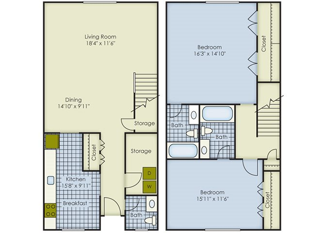 Dorchester Townhouse II Floor Plan 6