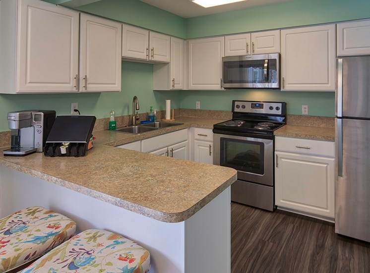 Kitchen at Senior Apartments in Virginia Beach