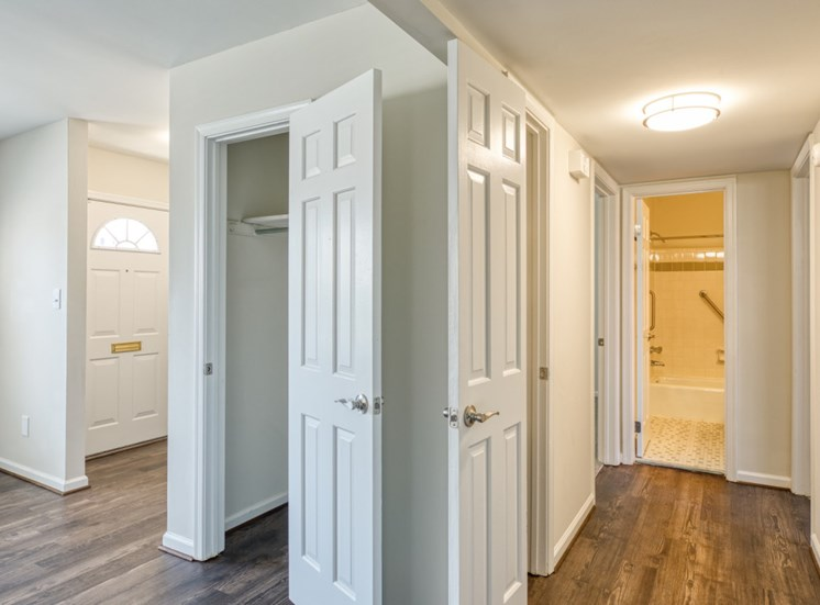 Hall closets in apartments for seniors in Virginia Beach