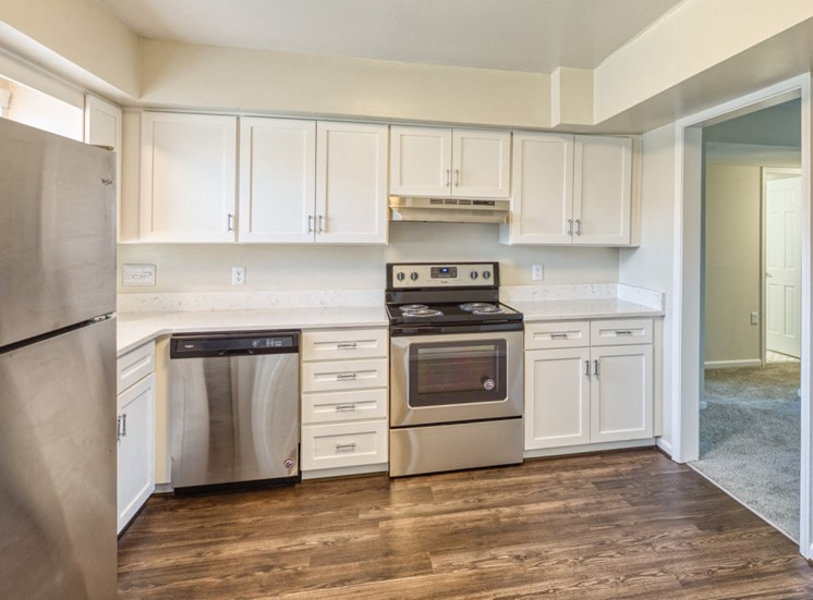 Kitchen full view Haygood Hall apartments in Virginia Beach