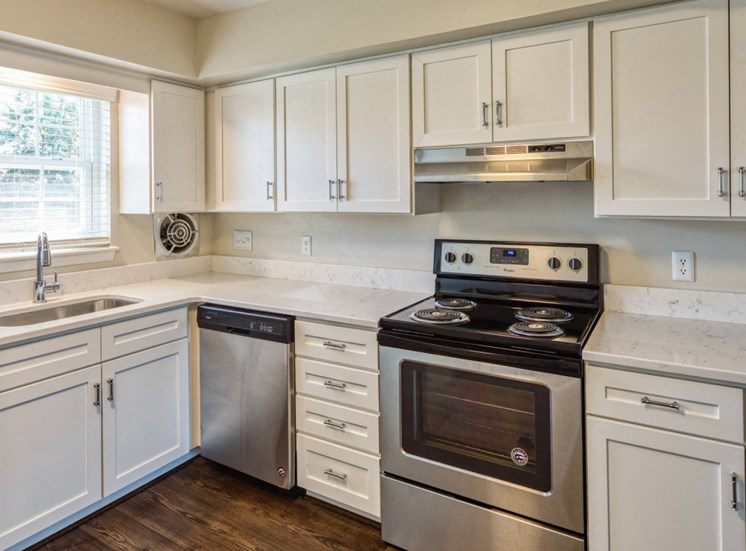 Kitchen at apartments for seniors in Virginia Beach