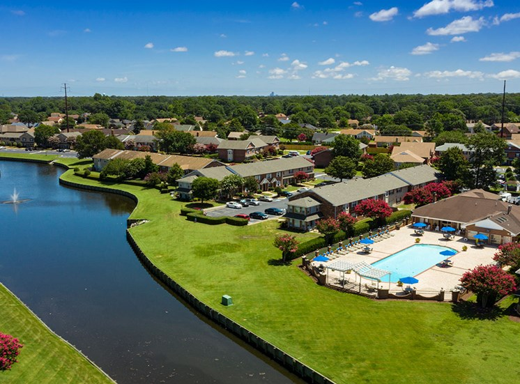 Aerial of Holly Point Apartments