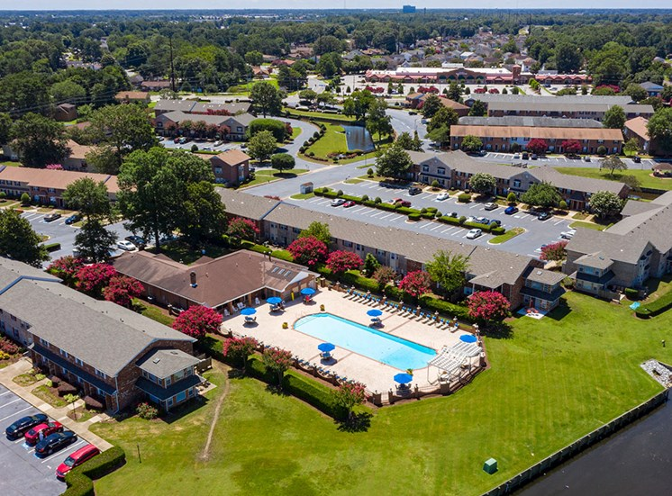 Aerial of Holly Point Apartments 2