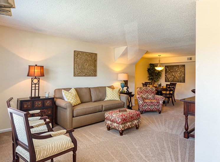 Living room at Holly Point Apartments in Chesapeake VA