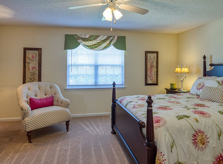 Bedroom at  Holly Point Apartments in Chesapeake