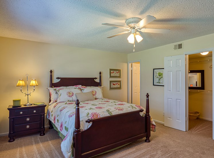 Bedroom at  Holly Point Apartments in Chesapeake VA