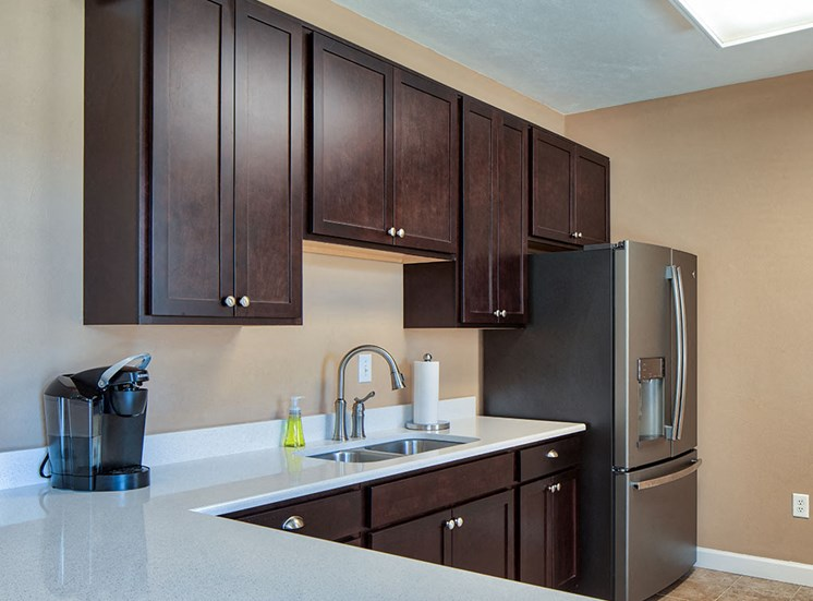 Clubhouse kitchen at Magnolia Chase Apartments