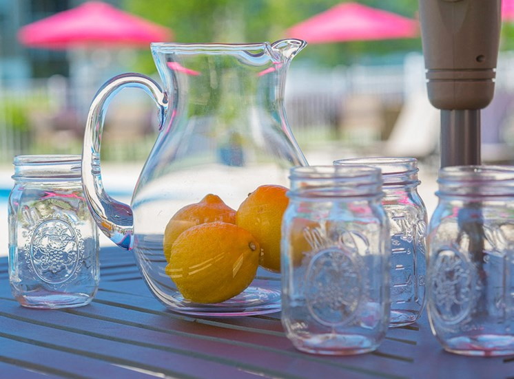 Lemons in pitcher at Magnolia Chase Apartments