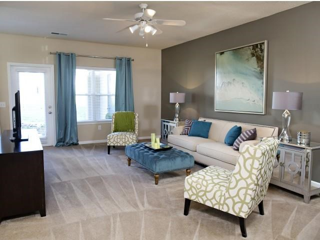 Living Room at Northridge Crossing Apartments in Raleigh NC