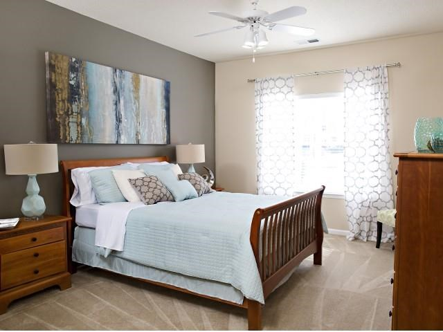 Bedroom at Northridge Crossing Apartments in Raleigh