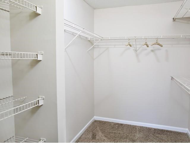 Closet at Northridge Crossing Apartments in Raleigh