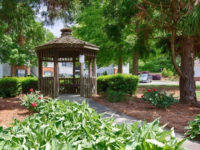 Gazebo Northridge Crossing Apartments in North Raleigh