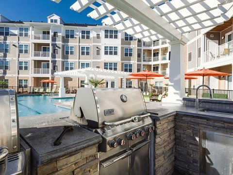 Pool  Kitchen at Solace Apartments in Virginia Beach 23464