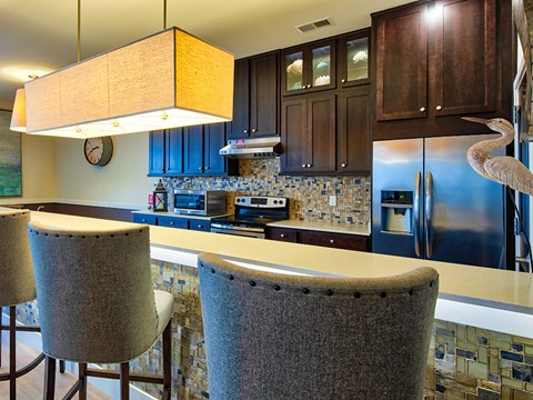 Kitchen Island at Solace Apartments in Virginia Beach 23464