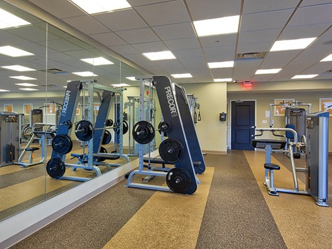 Fitness equipment at Solace Apartments