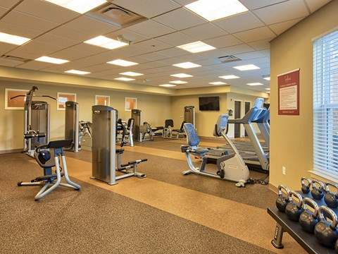Fitness Center at Solace Apartments in Virginia Beach  23464