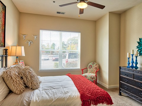Bedrooms with Ceiling Fans at Solace Apartments