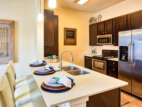 Apartment Kitchen 2 at Solace in Virginia Beach 23464