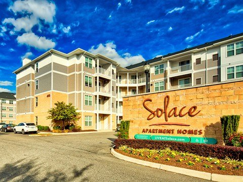 Solace Apartments SIgn