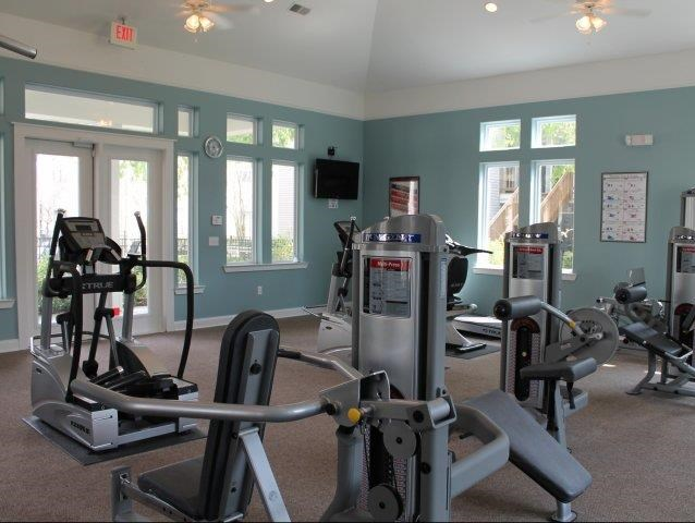 Fitness center at Windjammer Apartments