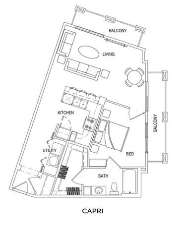 Floor plans of east beach marina in norfolk va for Capri floor plan