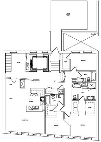 3 BED 3 BATH Floor Plan 6