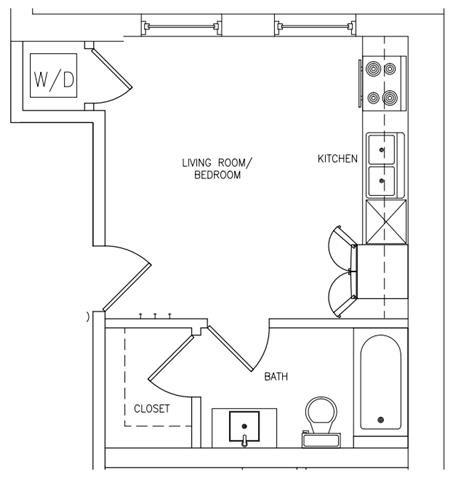 STUDIO Floor Plan 18