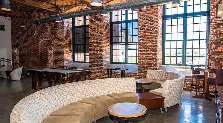 Residents Club Room at Loray Mill Lofts