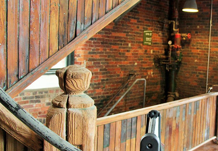 Architectural detail at Loray Mill Lofts