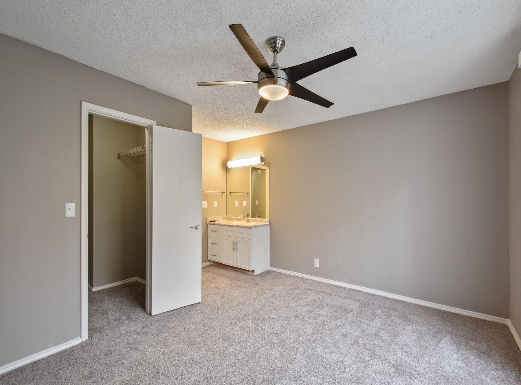 Model Bedroom With Ceiling Fan