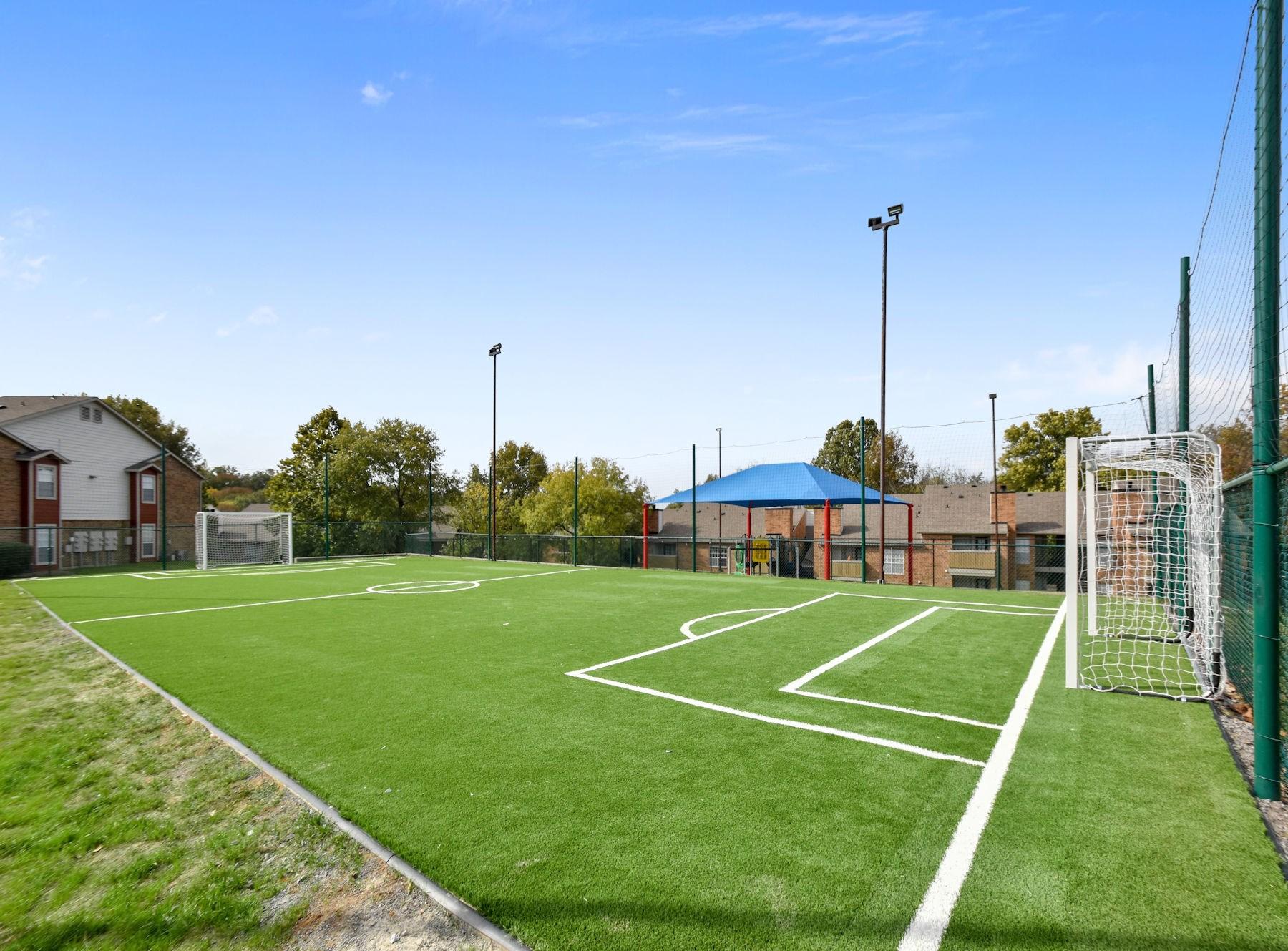 Fenced In Soccer Field