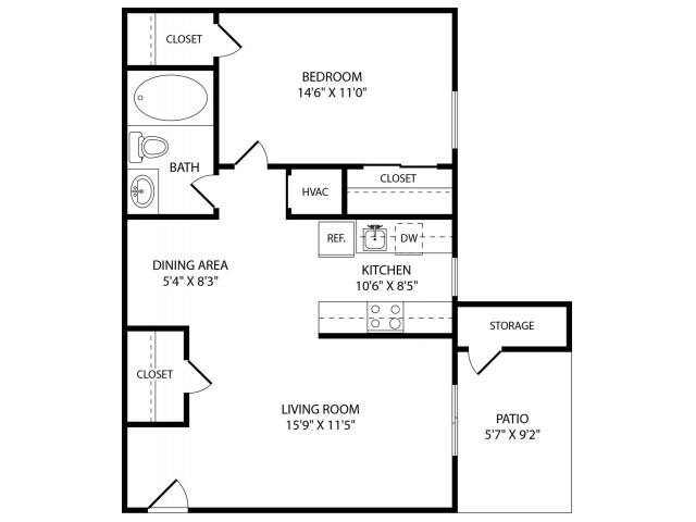 Floor Plans Of Stone Ridge Apartments In Antioch Tn