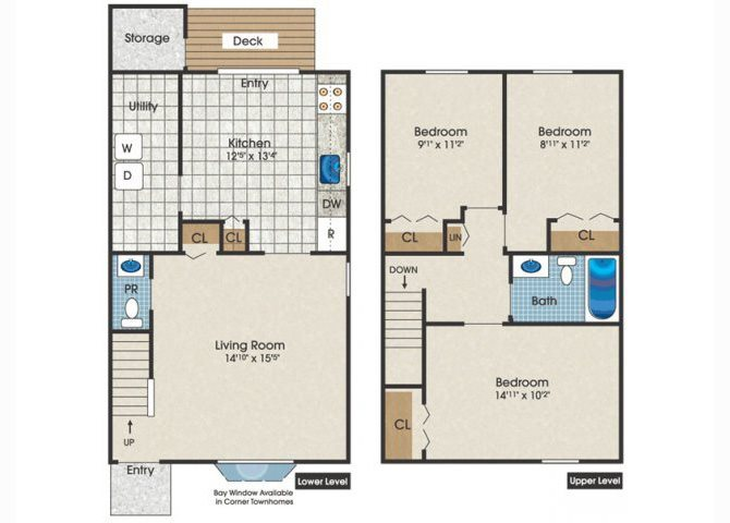 three bedroom townhouse for rent in White Marsh